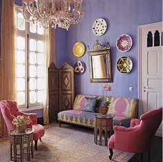 Moroccan Living Room.