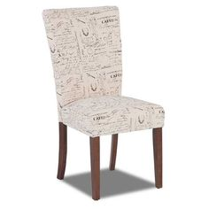Script Parsons Accent Chair