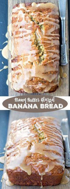 Brown Butter Glazed Banana Bread Recipe