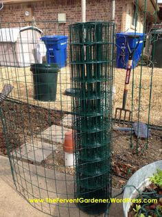 Grow Cantaloupe Vertically And Get A Lot of Tasty Fruit From A Small Footprint – The Fervent Gardener Planting Cantaloupe, Growing Cantaloupe, Small Backyard Gardens, Footprint, Tasty, Fruit, Potato Towers, Vines, Garden Ideas