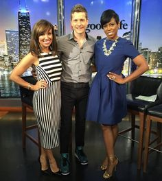 #MattCzuchry stops by to chat about #Goodwives with #SaraGore and #JacqueReid #NYC #NYL