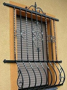 Iron Window Grill, Window Grill Design, Iron Windows, Iron Board, Iron Gates, Window Art, Steel Doors, Wrought Iron, Metal Working