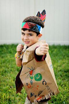 Native American vest & headband out of brown paper bag. @Summer Olsen Olsen Coursey