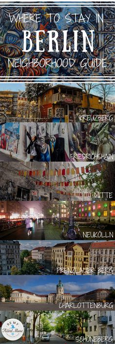Heading to Berlin and not sure which neighborhood is best to stay in? Berlin offers something for everyone! This guide offers an overview of each major Berlin neighborhood, as well as what each area is known for and major attractions that are within reach. Practical tips for your trip to Germany.   Be My Travel Muse #Berlin #Germany