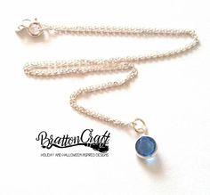 Sapphire Birthstone Necklace  September Birthstone Necklace
