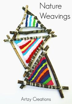 Woodworking For Kids Make these awesome Nature Weaving using sticks. A great project for kids. - Image: Make these awesome Nature Weaving using sticks. A great project for kids. Weaving For Kids, Weaving Art, Loom Weaving, Hand Weaving, Art Lessons For Kids, Art For Kids, Craft Kids, Kids Crafts, Weaving Projects
