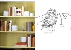 12. Rope #Cubes - 12 Beautifully #Creative DIY Bookends ... → DIY #Concrete