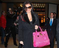 bubblegum pink, saffiano leather MICHAEL Michael Kors Hamilton Studded Tote