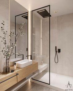 Contemporary Bathroom Inspiration, Contemporary Bathroom Designs, Bathroom Design Inspiration, Bathroom Design Luxury, Modern Interior Design, Home Room Design, House Design, Apartment Interior, House Rooms