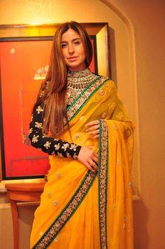 loving the long sleeves on sari's love Sabyasachi saree