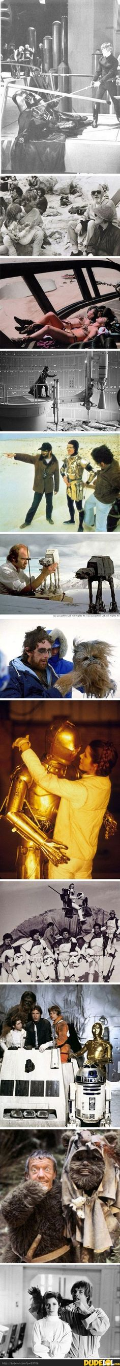 Behind the Star Wars scenes :P