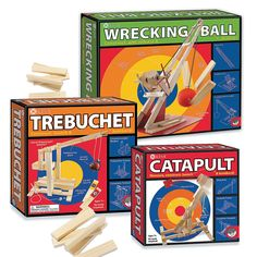 KEVA+Catapult,+Trebuchet+and+Wrecking+Ball:+Set+of+3+-+Mindware.com