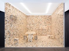 Manmade marble by Max Lamb used to create camouflaged installation