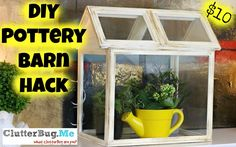 How to make this Pottery Barn inspired wooden terrarium from dollar store picture frames! Dollar Store/Pottery Barn Hack!