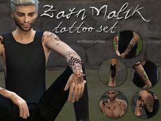 Sims 4 CC's - The Best: Zayn Malik Tattoo Set by Lilisimmer