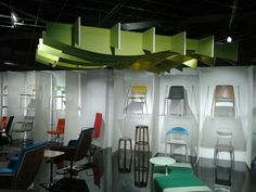 Chair wall and suspended celing acoustic.  ICF Group