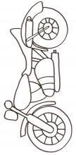 coloriage d'une moto dessin 1 - Tête à modeler