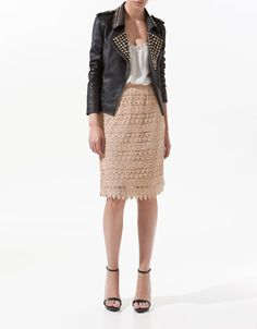 LEATHER JACKET WITH STUDS - Blazers - Woman - New collection - ZARA
