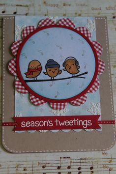 Season's Tweeting with Lawn Fawn....Super cute stamp set :)