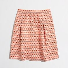 J. Crew Geometric Shapes Skirt NWOT J. Crew skirt-I wouldn't say it's mini-it hits about halfway between knee and thigh. Very cute orange, silver, white and navy blue shapes. J. Crew Skirts Mini