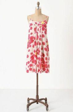 Anthropologie by Moulinette Soeurs Silk Floral Dress Size: 6