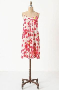 Anthropologie by Moulinette Soeurs Silk Floral Dress Size: 6