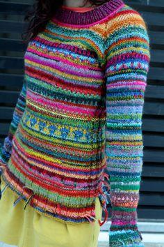 Handgefertigte Damen Pullover hergestellt aus bester Qualität-Naturwolle hell und bunt Osten zu tragen Grube-Grube: 90-100 cm Länge: 75 cm hergestellt in Lettland