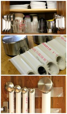 Amazing PVC Pipe Kitchen Tool Organizer - 48 DIY Projects out of PVC Pipe You Should Make