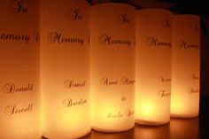 Memorial Luminaria for Wedding