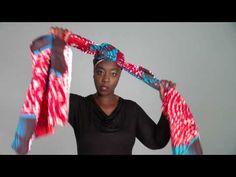 Sweet Rose Head Wrap Tutorial - Vlisco Fantasia Collection - YouTube