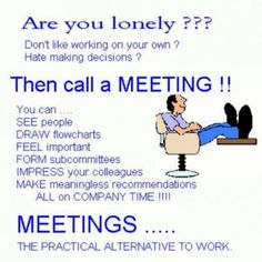 Hahaha yes meetings are the perfect distraction from work!!!
