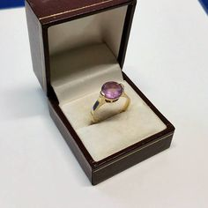 194 mm Ring 925 Silber vergoldet Amethyst Shabby Vintage alt