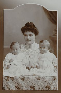 Cab Lady with Twin Boys Named 'Louise Weiler Eduard Erwin' Germany 1906   eBay