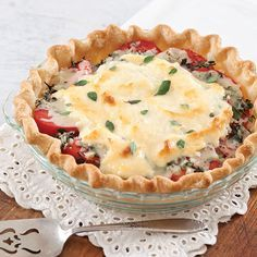 Paula Deen's Tomato Pie | Not quite a quiche, not quite a casserole, tomato pie is pure Southern goodness.