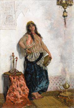 Cesare Biseo - Orientalische Tänzerin, 1876   (3176×4661)