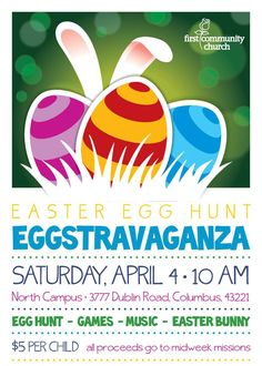 easter egg hunt flyer - Google Search | Hop2It | Pinterest | Easter