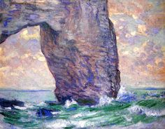 The Manneport, Seen from Below Claude Oscar Monet - 1883
