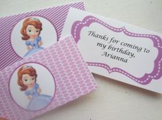 Sofia The First Treat Bag Toppers DIY