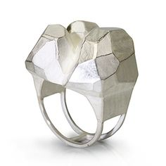Boulder Ring - Contemporary Jewelry - Sterling Silver by David Choi