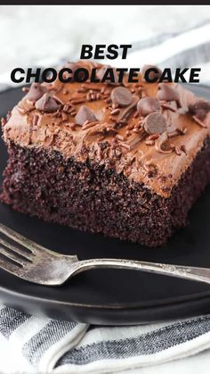 Best Homemade Chocolate Cake Recipe, Chocolate Cake From Scratch, Cake Recipes From Scratch, Best Chocolate Cake, Homemade Cake Recipes, Cake Mix Recipes, Chocolate Recipes, Baking Recipes, Delicious Chocolate Cake