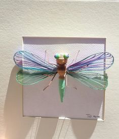 Quilled Wall Art Paper Dragonfly Quilling  Framed by ToschaArt