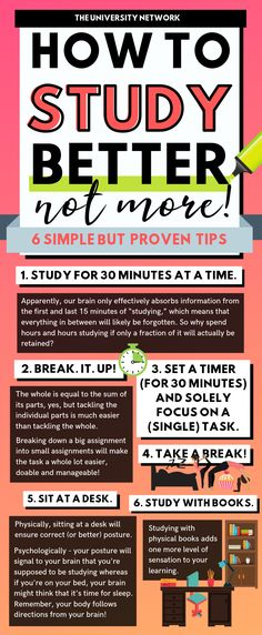 6 Simple Tips to Study Effectively Stress is real and so is procrastination. How do we study effectively under pressure? These 6 tips will help you study with ease and peace. Study Tips For High School, Life Hacks For School, College School, College Students, College Study Tips, Studying In College, Study Tips For Exams, Apps For School, Student Studying