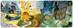 Roberto Matta's 101st Birthday [101 год со дня рождения Роберто Матта] /This doodle was shown: 11.11.2012 /Countries, in which doodle was shown: Chile, Colombia