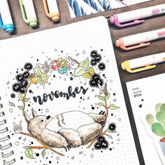 """2,489 Likes, 15 Comments - Notebook Therapy (@notebook_therapy) on Instagram: """"Such an adorable monthly cover page by @elise.studies ☺️ Totoro is my spirit animal …"""""""