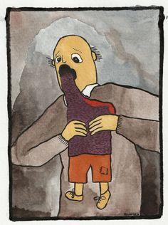 Alfons pappa devouring Alfons