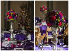 centerpieces for tables at Daniel Stowe Botanical Garden