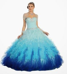Teal aqua prom dresses make young ladies looking especially light and airy
