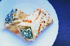 Naleśniki ze szpinakiem, serem feta i twarogiem. Zapraszam po przepis na blog :)