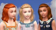 The Sims 4 | My Stuff: Base Game Medium Wavy Poof Pulled Back Hairstyle Converted for Girls | hairs for female child