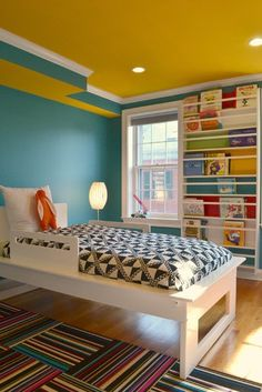 I like this idea for books in the kids room.. it only needs wall space, not as much as a book shelf as it is narrow.